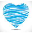 Blue strip heart shape vector