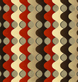 Retro waves seamless pattern with grunge effect vector