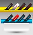 Colored buttons ticket website menu vector