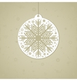 Christmas background in retro style vector