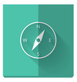 Paper flat icon with a shadow compass vector