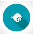 Fish-eating fish icon vector