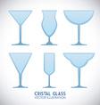 Cristal glass design vector