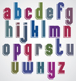 Geometric alphabet bold and condensed font in vector