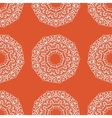 Mandala hand drawn seamless ornament in orange vector