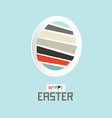Easter paper cut egg vector
