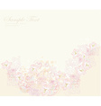 Romantic flower invitation card vector