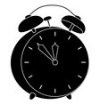 Alarm clock black silhouette vector
