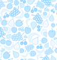 Blue fruit doodle seamless pattern vector