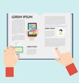 Element of newspaper in flat design vector