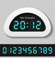 Blue glowing digital numbers - clock or counter vector