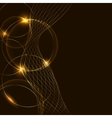 Golden abstract background vector