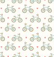 Cartoon bicycles pattern vector