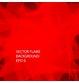 Red fire background vector