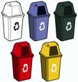 Recycling bin vector