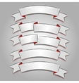 White banners or ribbons set vector