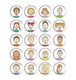 Big set cartoon avatars vector