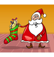 Santa claus cartoon christmas vector