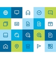 Web and internet icons flat vector