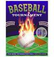 Baseball tournament flyer 3 vector