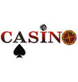 Casino roulette black vector