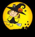 Halloween little wizard 002 vector