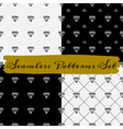 Black and white abstract seamless patterns set vector