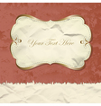 Golden vintage banner on grunge paper vector