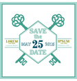 Wedding invitation and save the date card vector