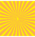 Sunburst with ray of light yellow and orange back vector