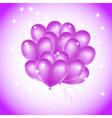 Violet heat balloons vector