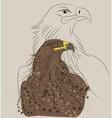 Brown eagle vector