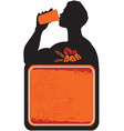 Man drinking beer sign vector