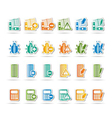 24 business and website icons vector