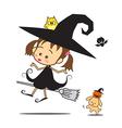 Halloween little wizard vector