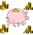 Pig piggy bank vector