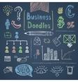 Doodle business set vector
