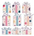 Vintage gift boxes vector