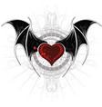 Vampire heart vector
