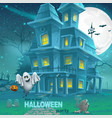 A haunted house for halloween for a party with vector