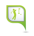 Golf icon green map pointer vector