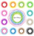 Hand drawn colorful circles abstract set vector