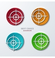 Aim icons set on sample background vector