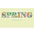 Decorative spring text with transparency and vector