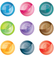 Numbered colored buttons set icons vector