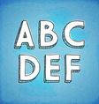 Doodle style hand drawn alphabet a-f vector