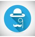 Gentleman accessories symbol bowler hat monocle vector