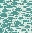 Cute fish seamless pattern design vector