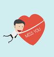Man holding heart symbol vector