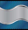 Wave silver blue vector